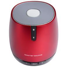 boomer bounce, 2W, Con cavo e senza cavo, Bluetooth / 3.5 mm, Bluetooth, Rosso, Digitale