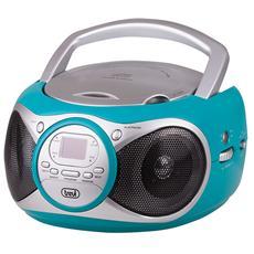 Stereo Portatile Cd Boombox Cd 512 Turchese