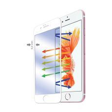 GLASS701WH Pellcola in Vetro Temperato Anti-Impronte Iphone 6S Plus Bianco