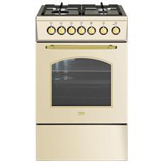 Cucina Elettrica CSS52125DCR A Libera Installazione 50x60 cm 4 Bruciatori Colore Crema