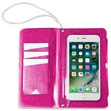 Flip Cover Custodia impermeabile SplashWallet per smartphone da 6.2' colore Rosa
