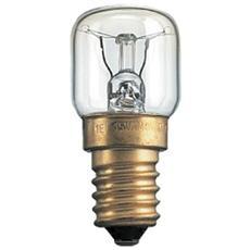 Lampada ad incandescenza per forni 300 gradi C chiara E 14 W 15 Pz 10