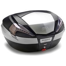 Valigia V56nt Maxia 4 Catadiottri Fumà ¨ E Finitura In Alluminio Nero