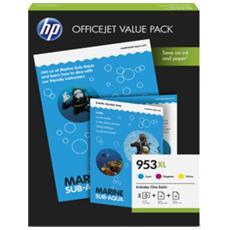 Cartuccia Ink Originale Ciano Magenta Giallo per Officejet Pro 7740 Capacità 4800 Pagine