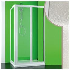Box Doccia 90x130 Cm In Acrilico Mod. mercurio Con Apertura Laterale