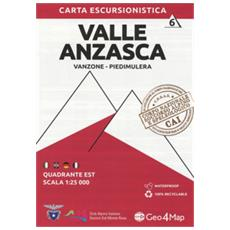 Carta Escursionistica Valle Anzasca. Scala 1:25.000. Ediz Italiana, Inglese, Tedesca E Francese. 6: Quadrante Est: Vanzone, Piedimulera