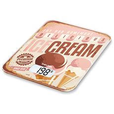 KS19 Ice Cream Bilancia da Cucina Design Portata 5 kg Colore Fantasia