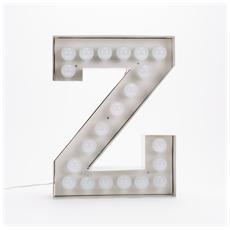 Lampada Lettera Z in Metallo con Lampadine LED Altezza 60cm - Linea Vegaz