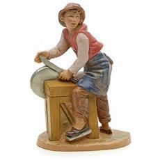 Arrotino 12cm Statuetta In Resina Per Presepe (f-33)