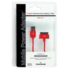 1m USB A - Dock per Samsung Galaxy Tab, M / M, 480 Mbit / s, Rosso
