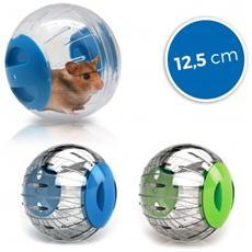 10573 Gioco Per Piccoli Roditori Mini Twisterball In Plastica Rigida 12.5 Cm - Blu