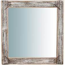 Specchio Da Parete In Legno Massello L60xpr2xh60 Cm