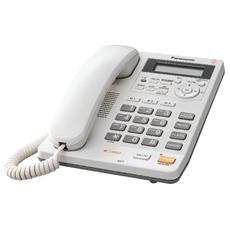 KX-TS620 Telefono Fisso a Filo con Display LCD e Identificativo delle Chiamate Segreteria Telefonica Vivavoce - Bianco