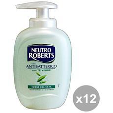Set 12 Sapone Liquido Antibatterico 300 Ml. Saponi E Cosmetici