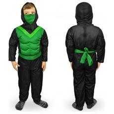 537622 Costume Carnevale Travestimento Ninja Da Bambino Da 3 A 12 Anni - 9/12 Anni