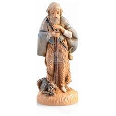 Pastore Con Cagnolino 6,5cm In Resina Presepe (f-267)