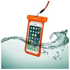 Custodia impermeabile SplashBag per smartphone da 6.2' colore Arancione