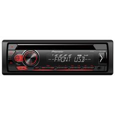 Autoradio DEH-S110UB Ricevitore Multimediale per Auto Potenza 4x 50 Watt Supporto FLAC / MP3 / WAV / WMA con USB / AUX