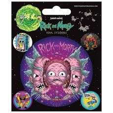 Rick And Morty: Psychedelic Visions (set Adesivi 12,5x10 Cm)