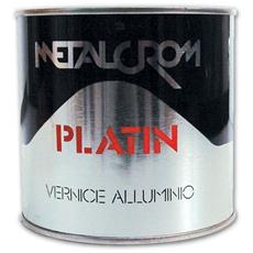 Vernice nitro-sintetica - Colore alluminio Platin Metalcrom 0,125 Lt.