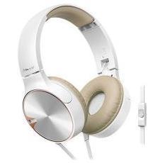 Se-mj722t Cuffie Con Microfono E Bassi Potenti - Bianco / Crema