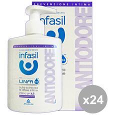 Set 24 Sapone Intimo Antiodore 200 Ml. Saponi E Cosmetici