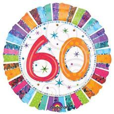 Palloncino Compleanno Mylar 60 Anni Radial 45 Cm *24250