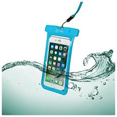 Custodia impermeabile SplashBag per smartphone da 6.2'' colore Blu