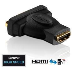 PureInstall PI045, HDMI, DVI-D, Femmina / femmina, Nero, Oro, 1920 x 1200 Pixel