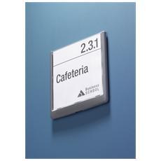 pz. 1 Targa Click Sign 14.9x14.85 cm grafite 4862-37