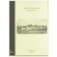Pagine di bibliografia siracusana