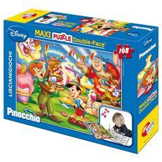 Puzzle Double-Face Supermaxi Pinocchio 108 pz 39.5 x 28.2 x 7 cm 31757