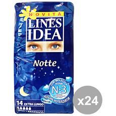 Set 24 Idea Notte Extralungo X 14 Pezzi Cura Del Corpo