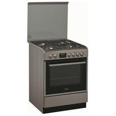 Cucina Elettrica ACMT 6332 / IX 4 Fuochi a Gas Forno Elettrico Classe A Dimensioni 60 x 60 cm Colore Inox