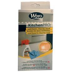 Kit Igiene Cucina Detergente Lucidante Protettivo Tutte Le Superfici + Panno In Microfibra Wpro