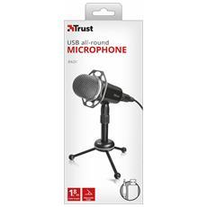 Radi microfono ad alte prestazioni su treppiede con connessioni da 3,5 mm e USB