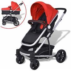 Passeggino / carrozzina 2-in-1 In Alluminio Rosso E Nero