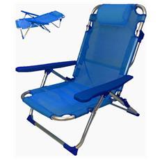Spiaggina Pieghevole In Alluminio Colore Blu