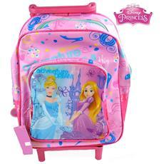 Zaino Trolley Principesse Disney Princess Asilo Scuola Bambine Viaggi Alto 30 Cm