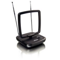 Ricezione digitale. Antenna amplificata da 36 dB. Interna amplificata da 36 dB (HDTV / UHF / VHF / FM) .