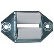Guidacinghia Laterale per Tapparella in metallo con Rulli in Nylon 4pz