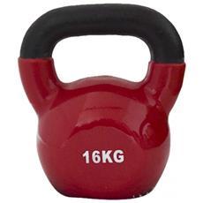 Kettlebell Ghiria Neoprene Rosso Fitness Gambe Braccia Casa Palestra 16kg
