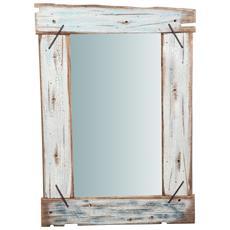 Specchio Da Parete In Legno Massello L60xpr3,5xh90 Cm