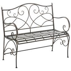 Panchina Stile Romantico Bizerte Ferro 104cm Colore Bronzo
