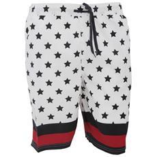 Byte Stars & Stripes Costume Tipo Pantaloncino Fantasia Uomo (l - Vita 91/96 Cm) (bianco / nero / rosso)