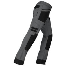 Pantalone da Lavoro Active Elasticizzato Taglia M Colore Grigio / Nero