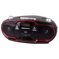 Radio Registratore Cd Cassetta Cmp 574 Usb Rosso