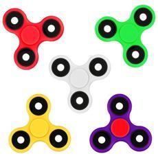 Pack Da 6 Fidget Spinner 4260 Gioco Antistress Colori Mix Triangle Plastica
