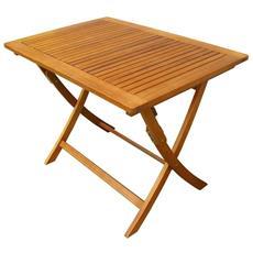 Tavolo tavolino Pieghevole HWC-D47 Legno di Pino Metallo /Ø 70cm