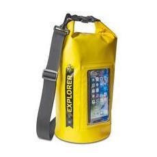 Borsa Impermeabile Explorer 5L con Tasca per Smartphone da 6.2' Colore Giallo